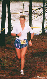 Beth running the TexasTrail 50K Race.
